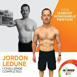 Jordon after the Isagenix IsaBody competition