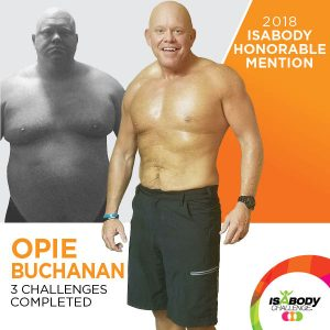 Opie after the Isagenix IsaBody competition